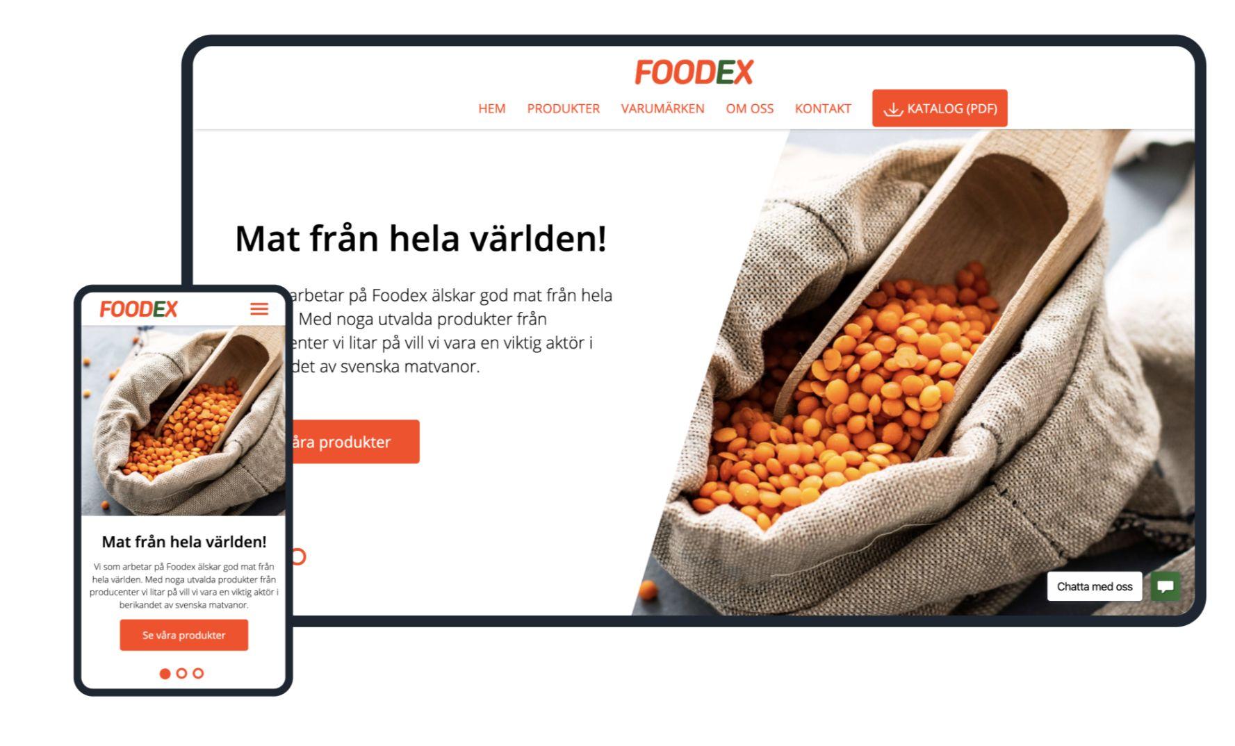 xysum veebiarendus projekt foodex e-pood koduleht